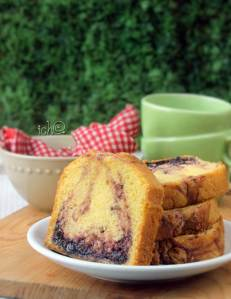 resep blueberry pound cake